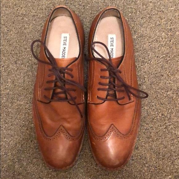 Steve Madden Mens Lyford Wingtip Shoes
